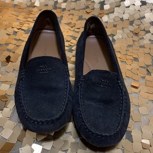 Coach black suede loafers in great used condition.